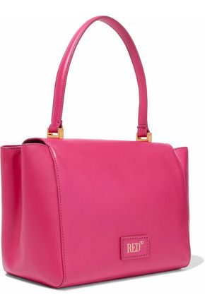 RED(V) Bow-embellished leather tote