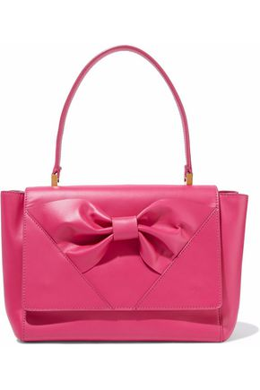 REDValentino Bow-embellished leather shoulder bag
