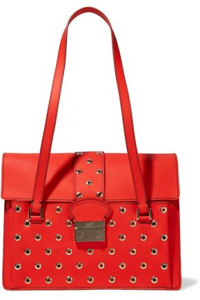 REDValentino Eyelet-embellished rubber shoulder bag