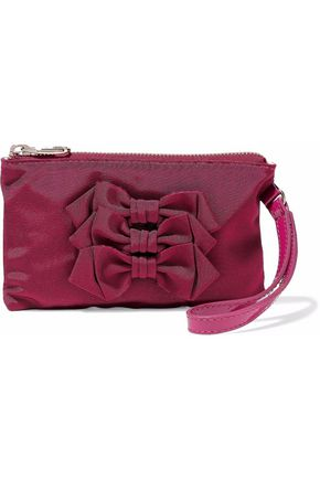 RED(V) Bow-embellished faille clutch