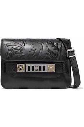PROENZA SCHOULER PS11 Mini python-appliquéd leather shoulder bag