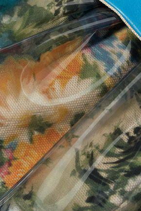 RED(V) Leather-trimmed floral-print PVC shoulder bag