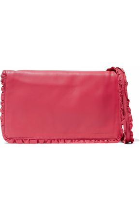 REDValentino Ruffle-trimmed leather shoulder bag