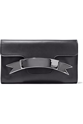 REDValentino Embellished leather clutch