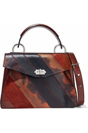 PROENZA SCHOULER Medium Hava paneled ayers, karung, suede and leather shoulder bag