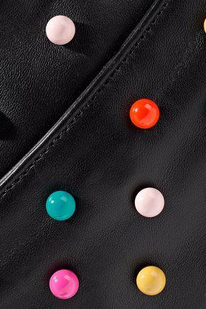 RED(V) Studded faux leather shoulder bag