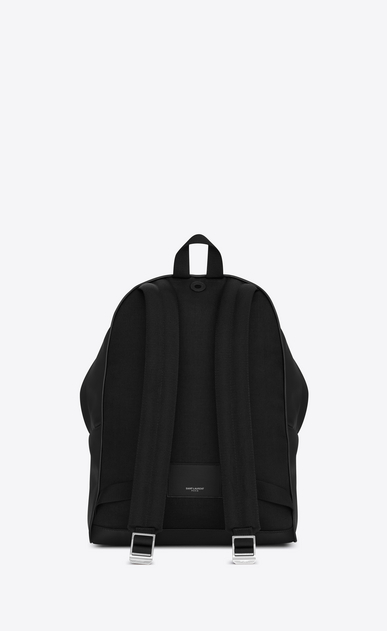 SAINT LAURENT Backpack Man city backpack in black matte leather b_V4