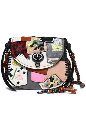 COACH Embellished patchwork leather shoulder bag