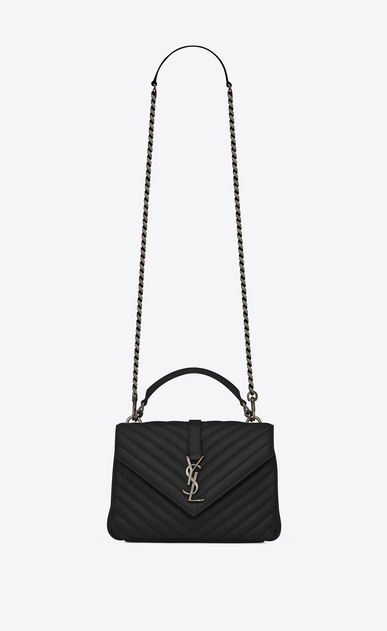 SAINT LAURENT Monogram College Donna medium collège bag nera in pelle matelassé a_V4