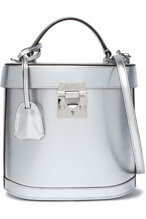 MARK CROSS Metallic textured-leather shoulder bag