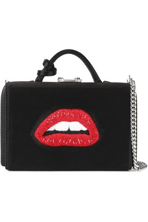 MARK CROSS Embroidered satin shoulder bag
