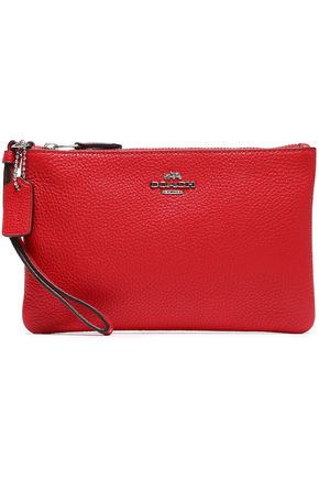COACH Textured-leather pouch