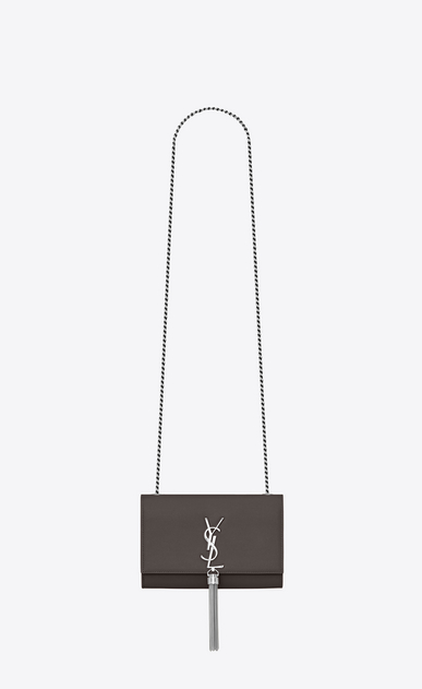 SAINT LAURENT MONOGRAM KATE WITH TASSEL Woman kate small with tassel in grain de poudre embossed leather a_V4