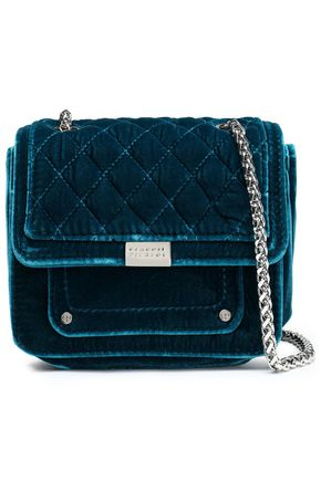 CLAUDIE PIERLOT Quilted velvet shoulder bag