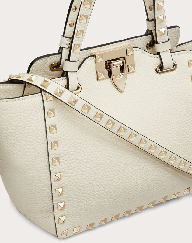 Mini Rockstud Grainy Calfskin Bag