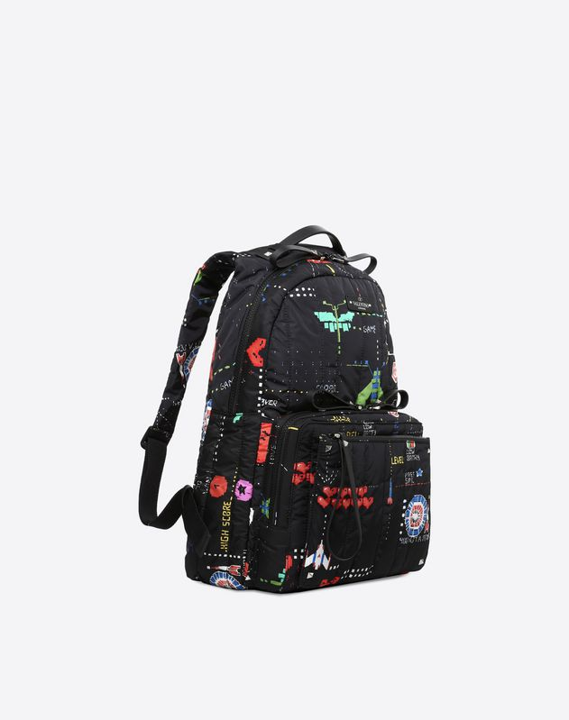 Arcade print backpack