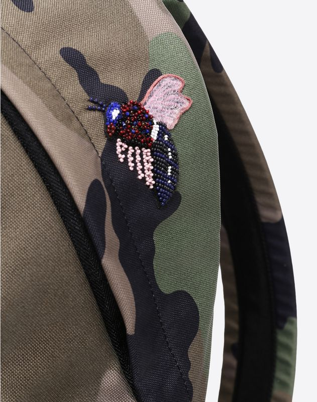 Rucksack with insect embroidery