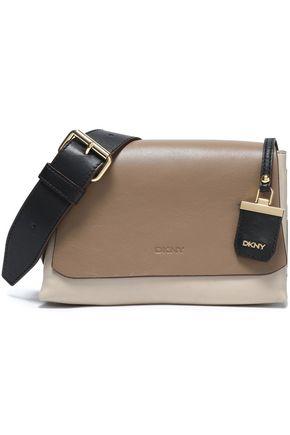 DKNY Color-block leather shoulder bag