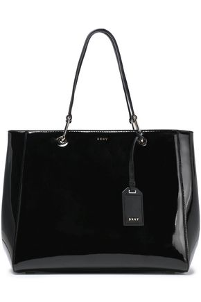 DKNY Patent-leather tote