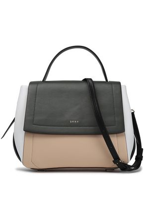 DKNY Color-block leather shoulder bag