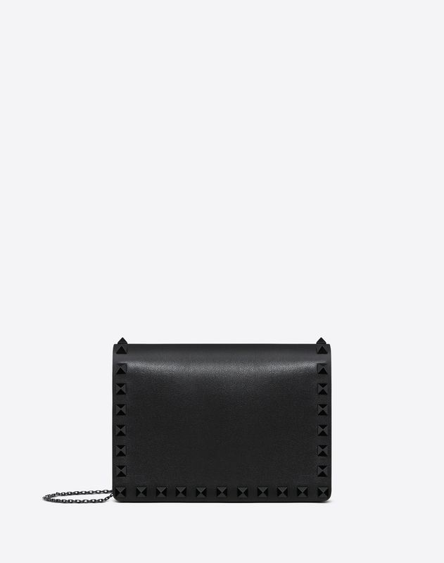 Lacquer Rockstud Pouch On Chain