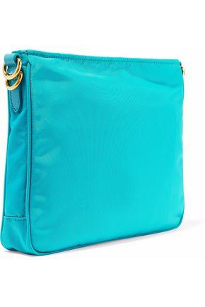 8654390f Leather-trimmed shell shoulder bag | PRADA | Sale up to 70% off ...
