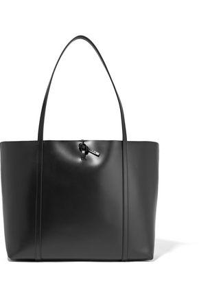 KARA Tie glossed-leather tote