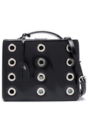 MARK CROSS Eyelet-embellished leather shoulder bag