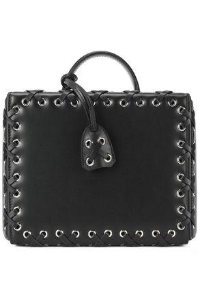 MARK CROSS Lace-up leather shoulder bag