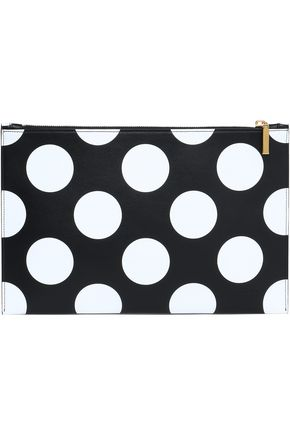 VICTORIA BECKHAM Polka-dot leather clutch