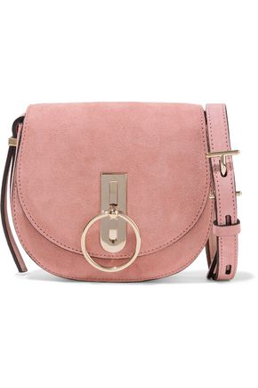 NINA RICCI Embellished suede shoulder bag