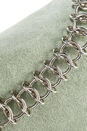 LITTLE LIFFNER Chain-trimmed suede shoulder bag