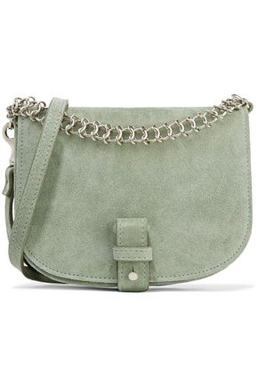 LITTLE LIFFNER Chain-trimmed textured-leather shoulder bag