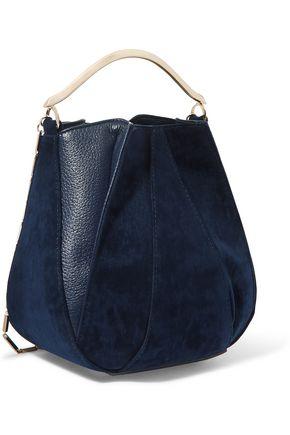 EDDIE BORGO Pepper Pochette mini twill and textured-leather bucket bag