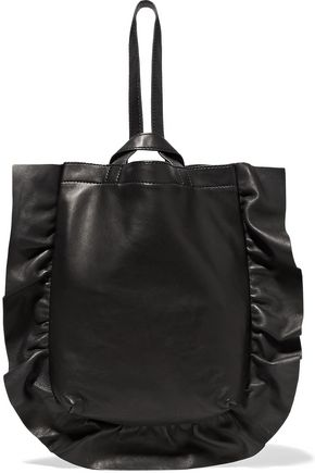 LOEFFLER RANDALL Ruffled leather wristlet bag