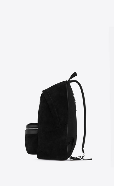 SAINT LAURENT Backpacks SL Man City backpack in black suede b_V4