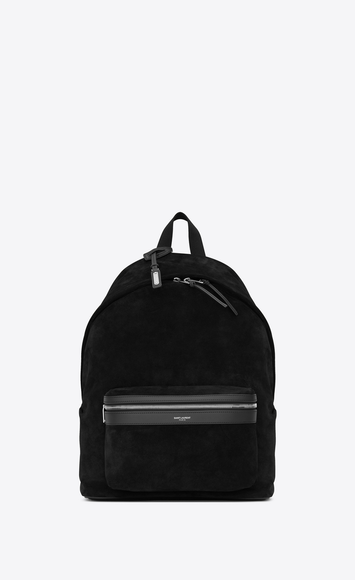 CITY BACKPACK IN BLACK SUEDE