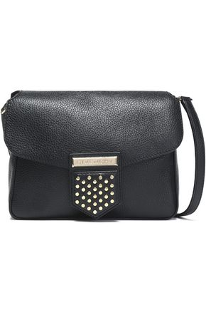 GIVENCHY Studded textured-leather shoulder bag