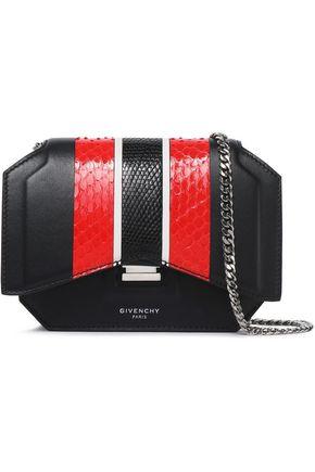 GIVENCHY Python-trimmed leather shoulder bag