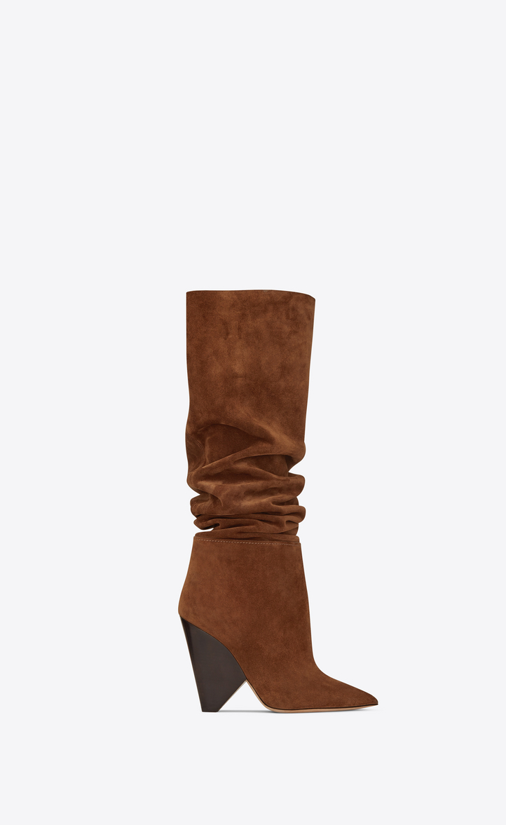 Niki 105 Suede Boots in Brown
