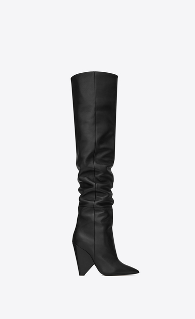 SAINT LAURENT Niki Woman niki wedge boot in lambskin a_V4