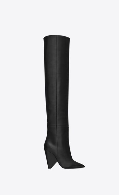 SAINT LAURENT Niki Woman niki wedge boot in lambskin b_V4