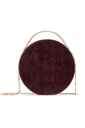 EDDIE BORGO Chet leather-trimmed brushed-twill shoulder bag