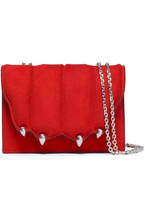 MARCO DE VINCENZO Embellished quilted suede shoulder bag