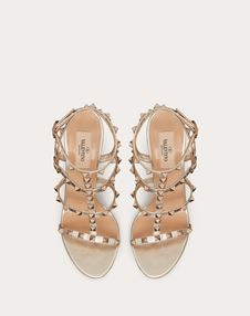 Rockstud 金属感袢带 100 mm 凉鞋