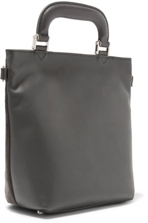ANYA HINDMARCH Orsett glittered suede and leather shoulder bag