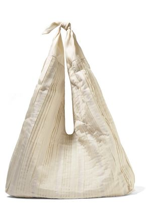 THE ROW Bindle pleated silk-organza shoulder bag