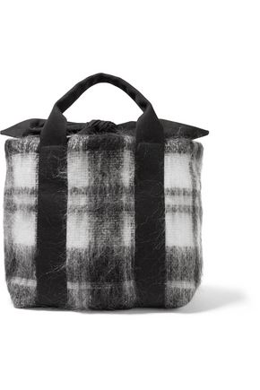 MUUÑ Yotto tartan and cotton-canvas tote