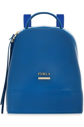 FURLA Leather-trimmed PVC backpack