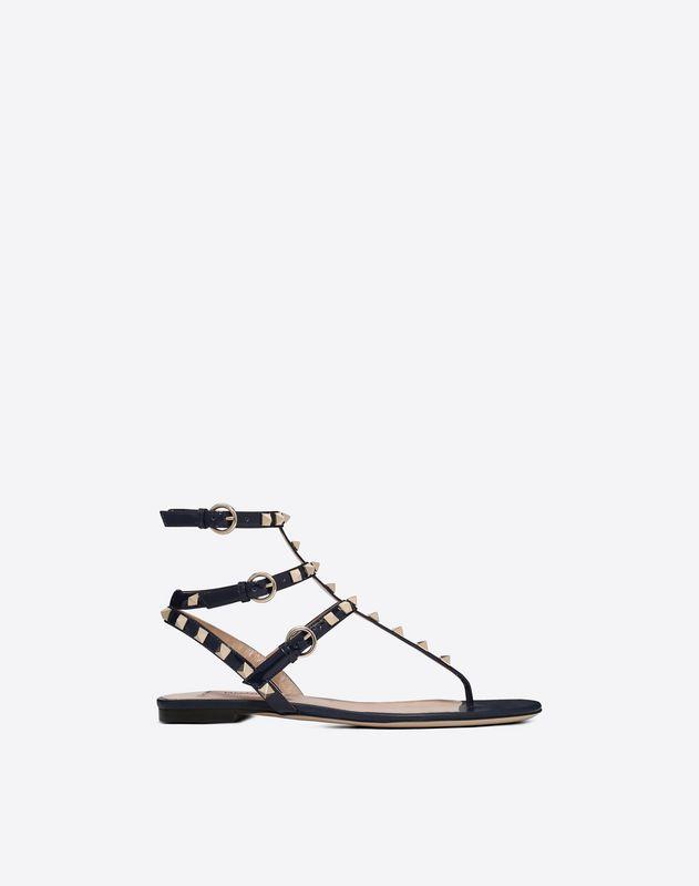 Patent Rockstud Flat Sandal